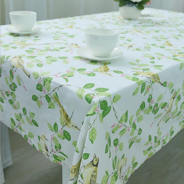 Tischdecke Pastoralen Dekoration Tischtuch Häkeln Blätter Vogel