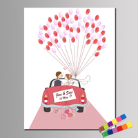 Custom Couple S Names And Date Wedding Guestbook For Fingerprint Wedding Decoration Wedding Car And 2