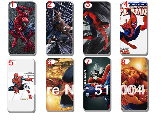 New  Spiderman  Case Hard Back Cover For Iphone 4 4s 4g 16PCS/lot+free Shipping