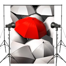 5x7ft Exquisite White Umbrella Photography Backdrop Red Background Kids Wedding Photo Studio Wall