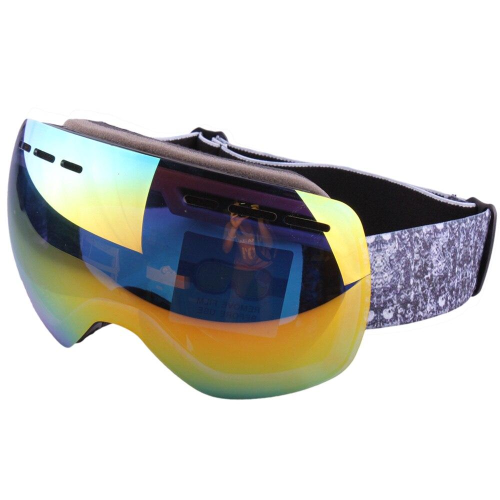 Prix pour Hommes de Femmes de Ski Lunettes UV400 Anti-brouillard Coupe-Vent Snowboard Lunettes Lunettes de Sport lunettes de Soleil Masque-2017 Nouveau arrivée