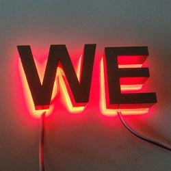 Na świeżym powietrzu 3D znak LED podświetlany szczotkowanego litery ze stali nierdzewnej w Moduły LED od Lampy i oświetlenie na