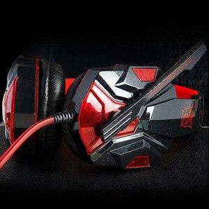 Image 3 - Oyun kulaklık USB 3.5mm oyun kulaklık arayüzü LED ses kontrolü aşırı kulaklıklar mikrofon ile PC için oyun kulaklık