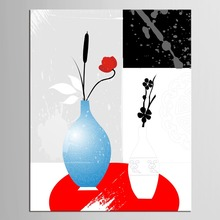 1 panel  Canvas Painting Decoracion Picture HD Print Wall Pictures For Living Room Paintings Flower Vase