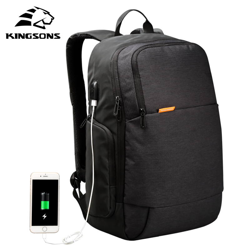 Kingsons KS3143W External USB Charge Laptop Backpack Anti-theft Notebook Computer Bag 15.6 inch for Business Men Women kingsons external charging usb function school backpack anti theft boy s girl s dayback women travel bag 15 6 inch 2017 new