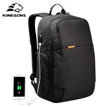 Kingsons KS3143W Externe USB Charger Ordinateur Portable Sac À Dos Anti-vol Ordinateur Portable Sac 15.6 pouce pour D'affaires Hommes Femmes