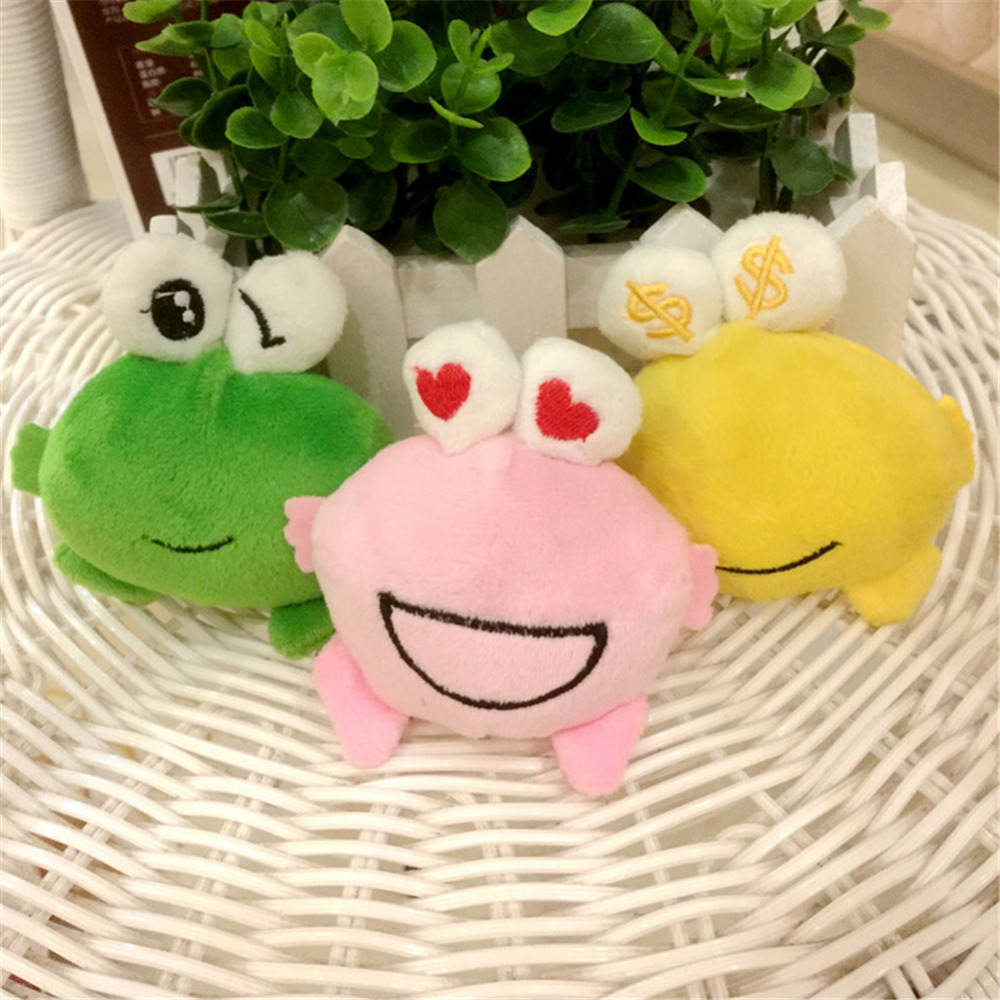Lovely Stuffed Play Little 8 CM Frog Plush Pendant Stuffed toy doll Keychain Pendant Plush Toy Random Color couple frog plush toy frog prince doll toy doll wedding gift ideas children stuffed toy