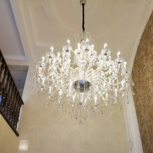Large Chandelier Crystals Empire Crystal Chandelier Lighting Bohemian Chandeliers for Hotel Lobby k9 Crystal Chandelier Lamp LED(China)