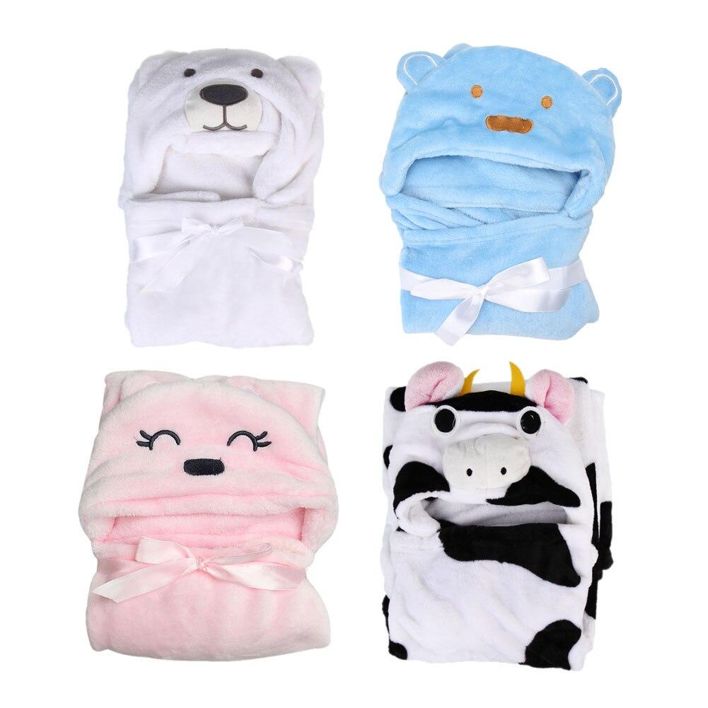 font b Baby b font Bath Towel Animal Shape Flannel Cartoon Hooded Bath Towel font
