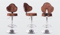 Офисные барный стул Чайный домик стул синий цвета: красный и коричневый цвет для seletion дома детей вращения подъемное кресло