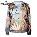 NADANBAO The Birth of Venus 2015 Fashion Full Sleeve Print  Moleton Hoodies Sweatshirt  Hoodie Women Sportswear