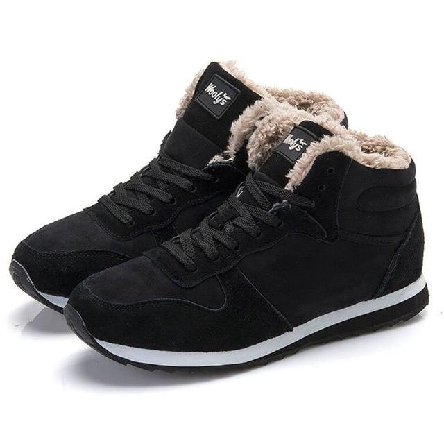 Große Größe 39 48 Herren Schnee Stiefel Winter Warme Schuhe Outdoor Ankle Plüsch High Top Baumwolle Schuhe Ankle Plüsch stiefel Botas Hombre