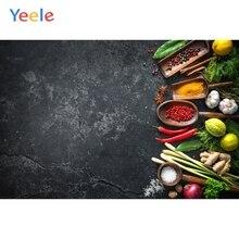 Yeele photophone للأغذية الظلام الاسمنت جدار الخضار الفواكه المطبخ التصوير خلفيات التصوير الفوتوغرافي الخلفيات استوديو الصور