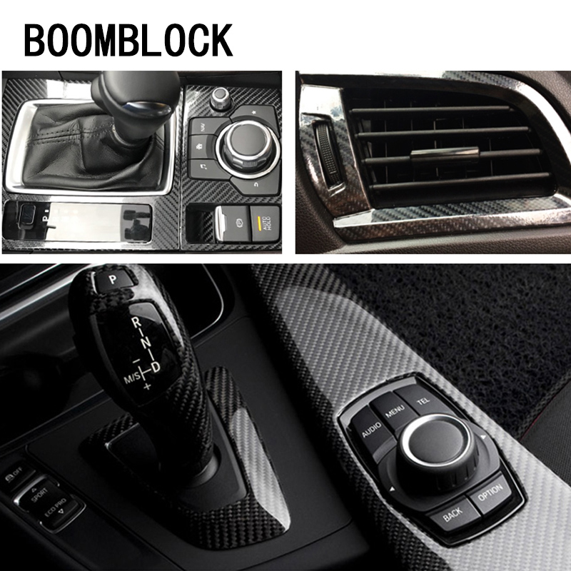 Car-Styling 5D Carbon Fiber Car <font><b>Sticker</b></font> For BMW E90 F30 <font><b>F10</b></font> m3 Audi A3 A6 C5 C6 Opel Insignia Ssangyong kyron rexton Accessories image