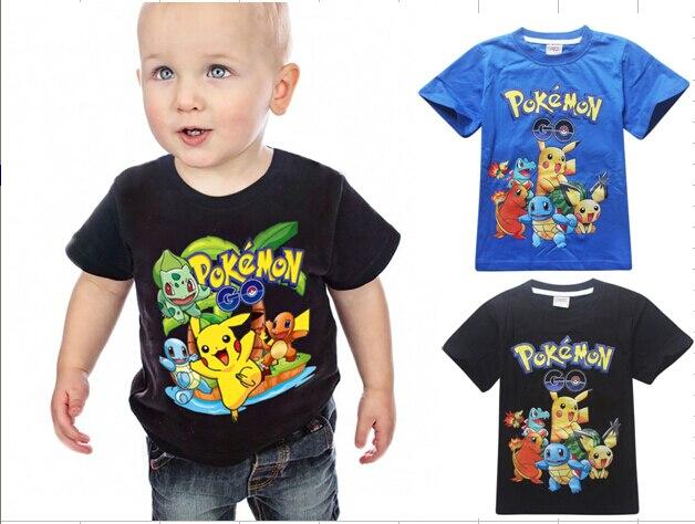 3 10y 2016 New Boys T Shirt Pokemon Go Cartoon Children