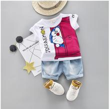 Cartoon Toddler Boy Clothes Summer Set Children Clothing Short Sleeve Shirt Boys Suit Baby Tracksuit