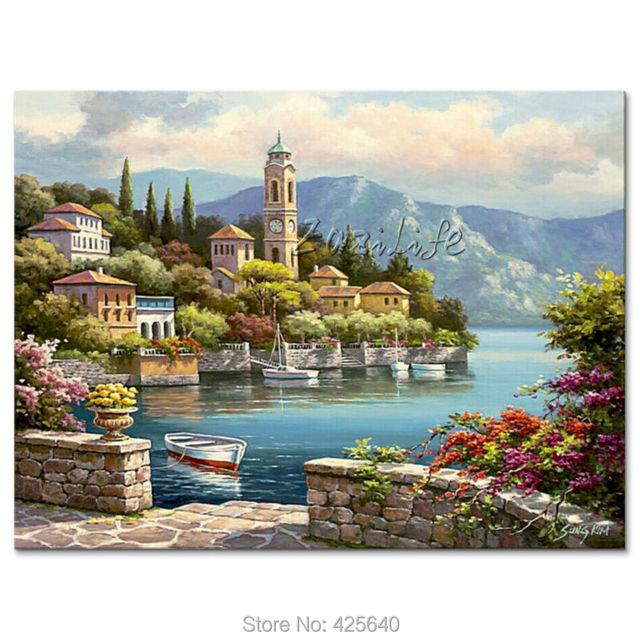 Dipinti a mano paesaggi marini pittura per il salotto for Paesaggi marini dipinti