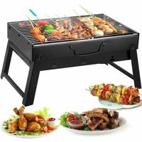 Barbecue Charcoal Grill Folding Portable Lightweight BBQ Tools for Outdoor Cooking Camping Hiking Picnics