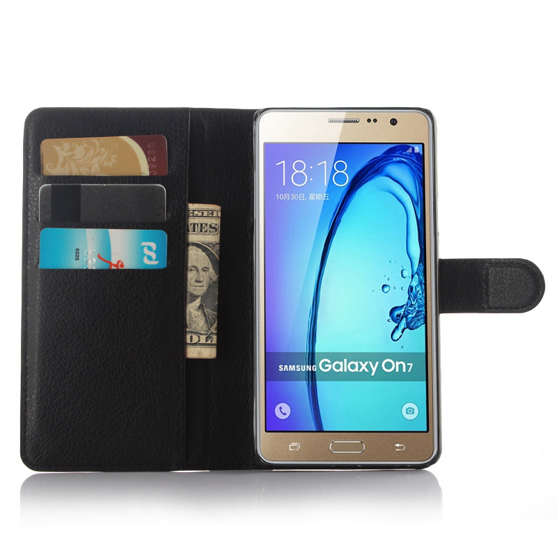 cheap for discount 2b81a 41207 US $3.9 18% OFF|New phone Case For Samsung GALAXY On 7/On7 PRO Flip Leather  Case For Galaxy on7 G6000/ON7 pro with Stand Function-in Fitted Cases from  ...