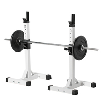 Slimming Product Pair of Adjustable Standard Solid Steel Squat Stands Detachable Barbell Stands for Fitness Exercise Squat Rack