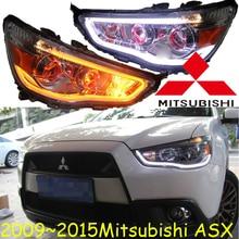 2009 ~ 2015y سيارة بومر رئيس ضوء لميتسوبيشي AXS مصباح أمامي للسيارة اكسسوارات LED DRL HID زينون الضباب لميتسوبيشي AXS كشافات