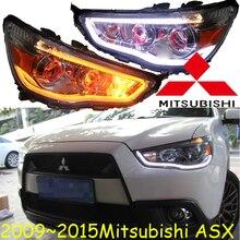 2009 ~ 2015y Xe Bumer Đầu Cho Mitsubishi AXS Đèn Pha Phụ Kiện Ô Tô Đèn LED DRL HID Xenon Sương Mù Cho Mitsubishi AXS Đèn Pha
