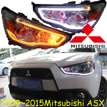 2009~2015y car bumer head light for Mitsubishi AXS headlight car accessories LED DRL HID xenon fog for Mitsubishi AXS headlamp