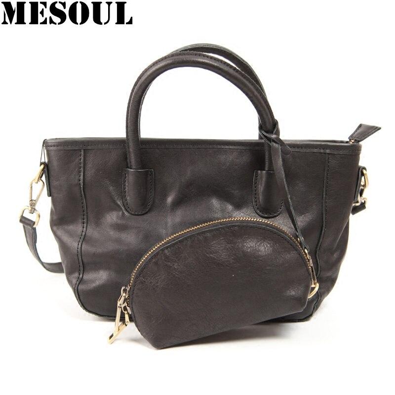 Nouvelle Designer Femmes Bag 100 Véritable Sac Sacs Célèbre Composite Marque tout En Cuir À Femelle 2019 Main Noir Mode Messenger Épaule Fourre x678w