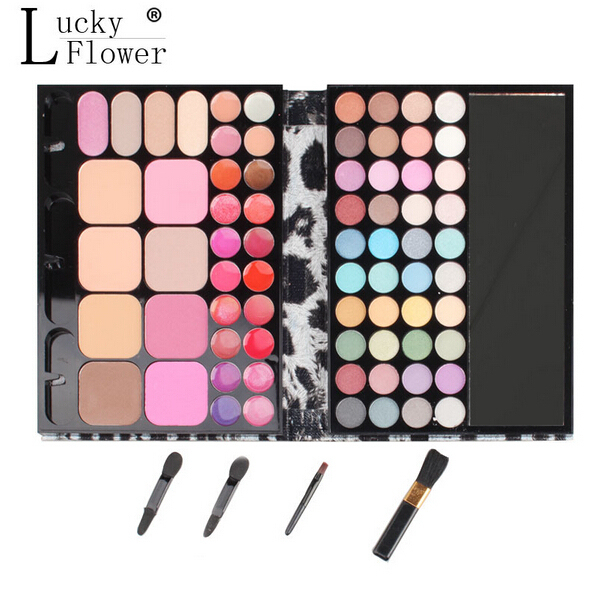 72 Colors Professional Makeup Eyeshadow Palette Eye Shadow+Lip Gloss+Blush Palette Set Long-lasting Natural Matte