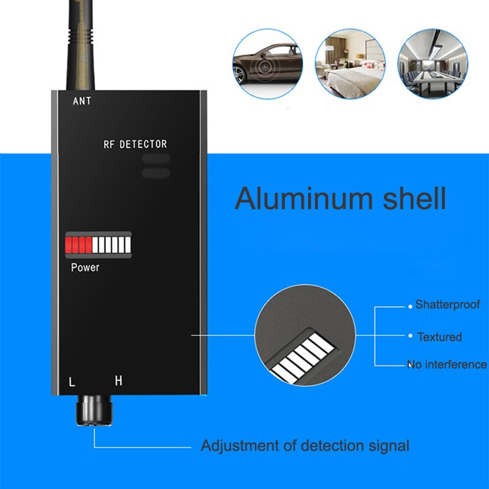 1 PCS Wireless Signal Scanner Anti Candid Camera Detector GSM Terminal Device Finder RF Microwave Detection Hotel security