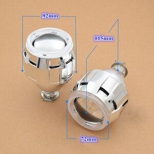Image 3 - Светодиодный биксеноновый прожектор Angel Devil Eyes H4 H7, линзы для фар COB DRL, линзы Halo Mini 2,5 для автомобильных фар, модификация аксессуаров