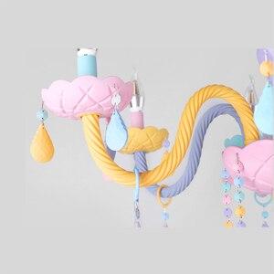 Image 5 - Colorato Lampadario di Cristallo Macaron di Colore Droplight Bambini Camera Da Letto Della Lampada Creativo Fantasy Apparecchio di Vetro Colorato Lustro