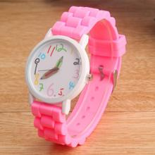 цена 2015 New Famous Brand Pencil Children Cartoon Geneva Casual Quartz Watch Women Silicone Watches Relogio Feminino Hot Sale Clock онлайн в 2017 году