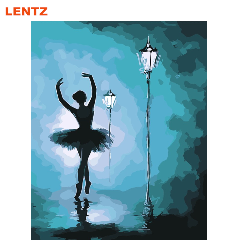 ᗖLENTZ Dancing <b>Girl</b> Dance Ballet Painting Picture By Numbers ...