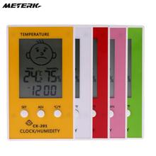 thermometer hygrometer LCD Digital Clock Temperature logger humidity meter indoor outdoor dijital termometre higrometre