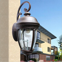 High End Cottage Southeast Asia Waterproof H 62cm Iron Glass E27 Outdoor Wall Lamp for Garden Balcony Street Porch Light 1436