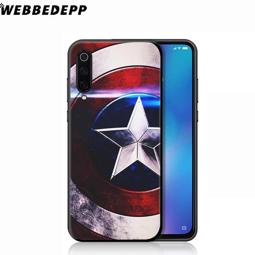 Capitão América WEBBEDEPP Caps Soft Case para Xiao mi mi 9T 9 8 SE 6 A1 A2 A3 Lite a2 A1 mi mi mi mi mi A3 F1 MAX 3 8 CC9E CC9