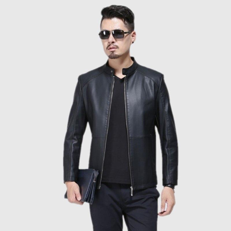 1715 nouvelle mode hommes automne vêtements homme printemps veste moto vestes hommes en cuir veste mince manteau - 2