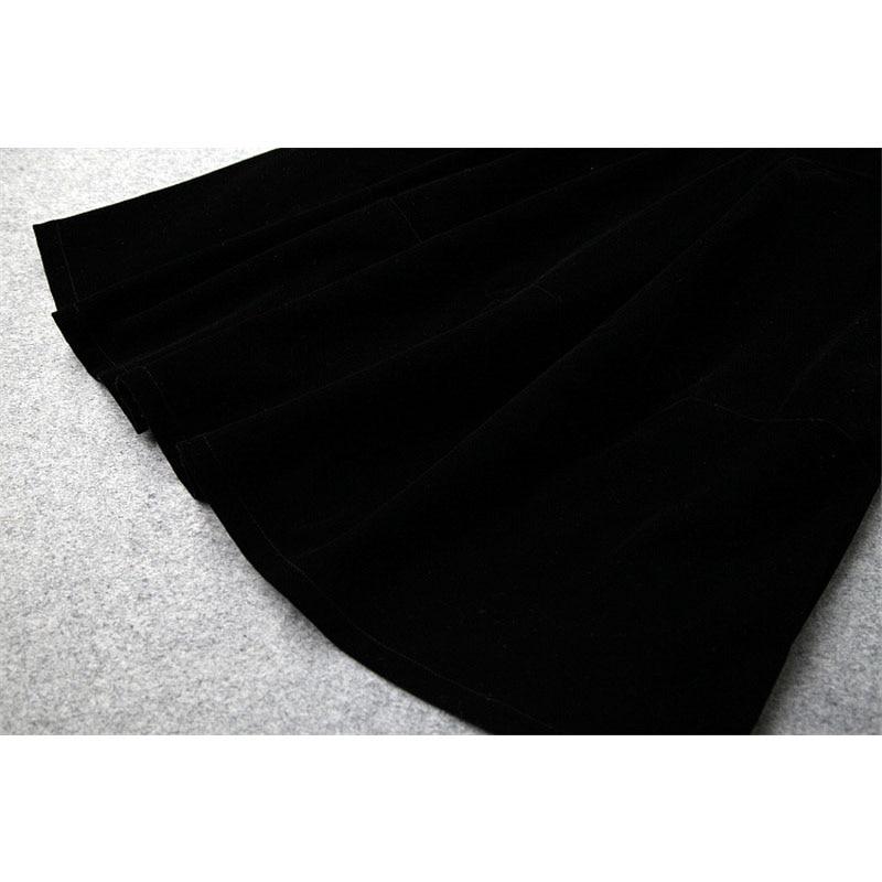 Autunno Inverno Stampato Rappezzatura Basamento Polka Designer Trendy Collare Moda 2019 Del Sexy Delle New Velluto Di Nero Il Donne Abiti Puntino YnWZYXa