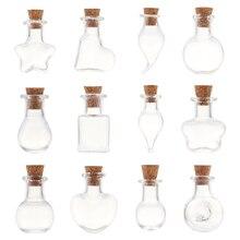 5 шт DIY Подвески пробковые пробки флакон для хранения мини стеклянные бутылки с пробкой пустые пробные банки бутылки желаний Свадебные украшения дома