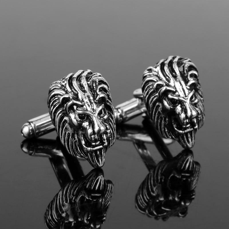 ef0bac311df9b Dongsheng Cufflinks For Men 3D The King Of Forest Lion Head Cufflinks  Jewelry Cuff Buttons Cuff Links Pins Tie Clip Cufflink -40