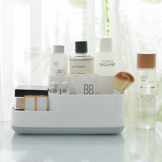1 Pcs Creative Makeup Organizer Plastic Detachable Grid Finishing Storage Box Cosmetics Desktop Rack Organizador 2019 Hot