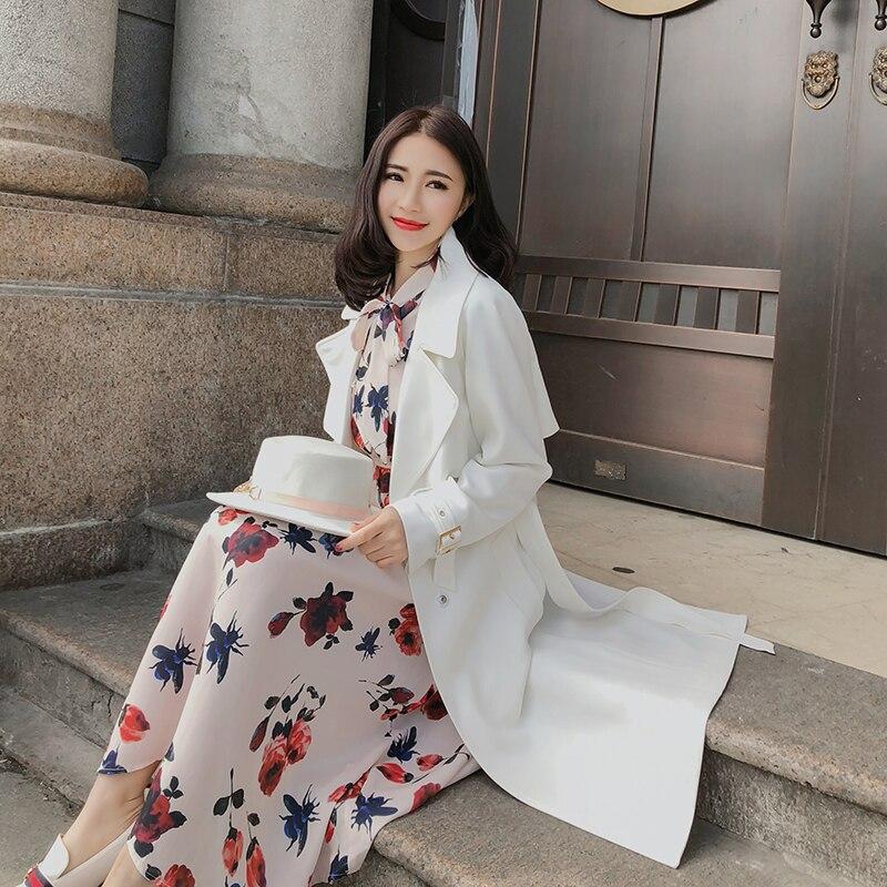 Longue De Qualité Streetwear Blanc 1 Fit Solide Femmes Section Harajuku Slim Haute Vêtements Veste Luxe Mode Manteau Couleur Loisirs 3Rjqc54AL