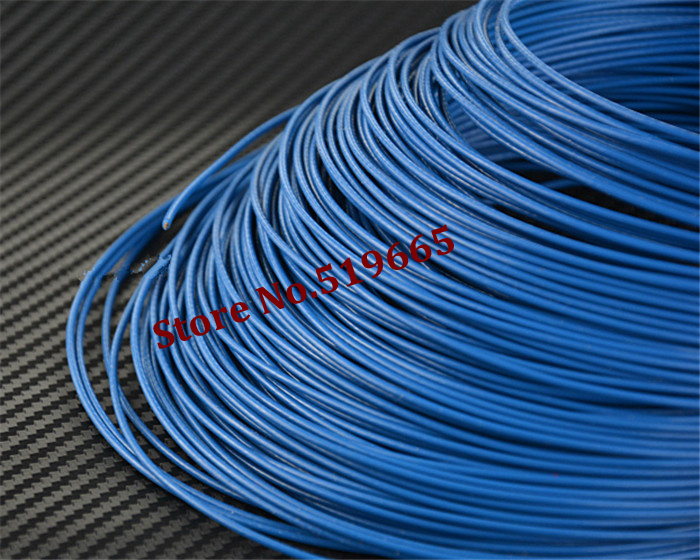 100M/lot Red/Black/Blue/silvery color 24AWG Teflon silver wire for ...