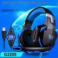 KOTION КАЖДЫЙ G2200 Игры Для Наушников USB 7.1 Surround Stereo PC Gamer Игры Гарнитура Вибрации Системы Поворотный Микрофон Наушники