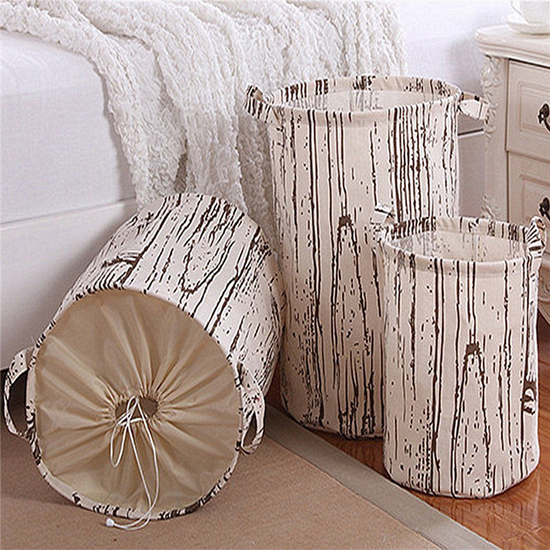 Waterproof Home Storage Baskets Canvas Dirty Clothes Laundry Storage  Organization Baskets Bag Hamper Kids Toy Storage Baskets