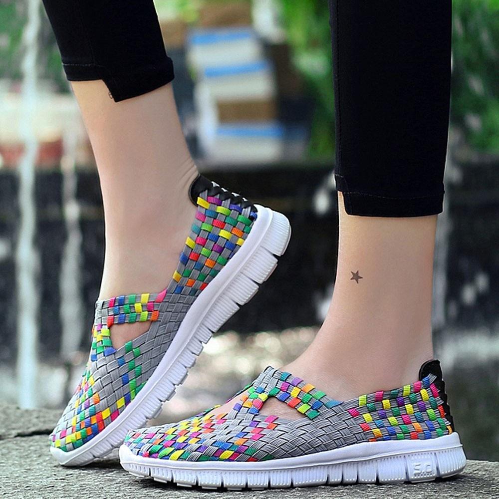 Frauen Schuhe Aufrichtig Schuhe Frau Plattform Turnschuhe Frauen Casual Schuhe Woven Atmungsaktive Casual Damen Schuhe # Tx4 Belebende Durchblutung Und Schmerzen Stoppen