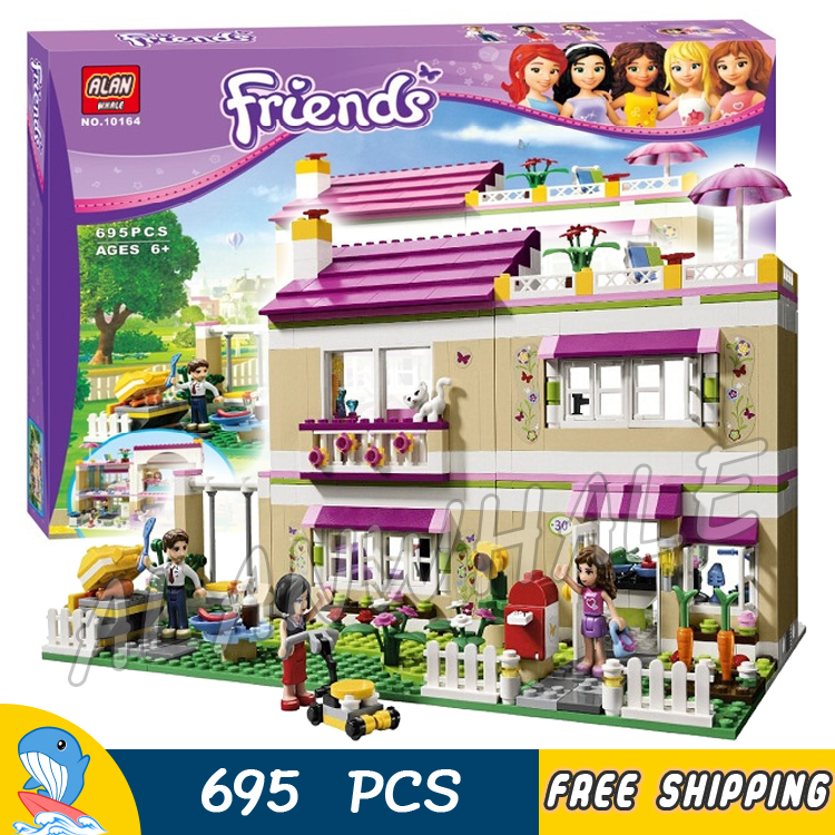 695pcs Friends Heartlake City Princess Olivia's House 10164 Model Building Blocks Lovely Children Toy Brick Compatible With lego 2017 hot sale girls city dream house building brick blocks sets gift toys for children compatible with lepine friends