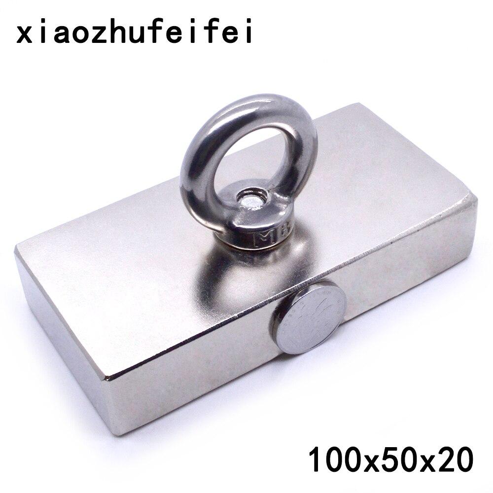 1 pc Ture N50 Bloc 100x50x20mm de Récupération magnétique Super Forte haute qualité Rare Earth aimants Néodyme Aimant 100*50*20mm