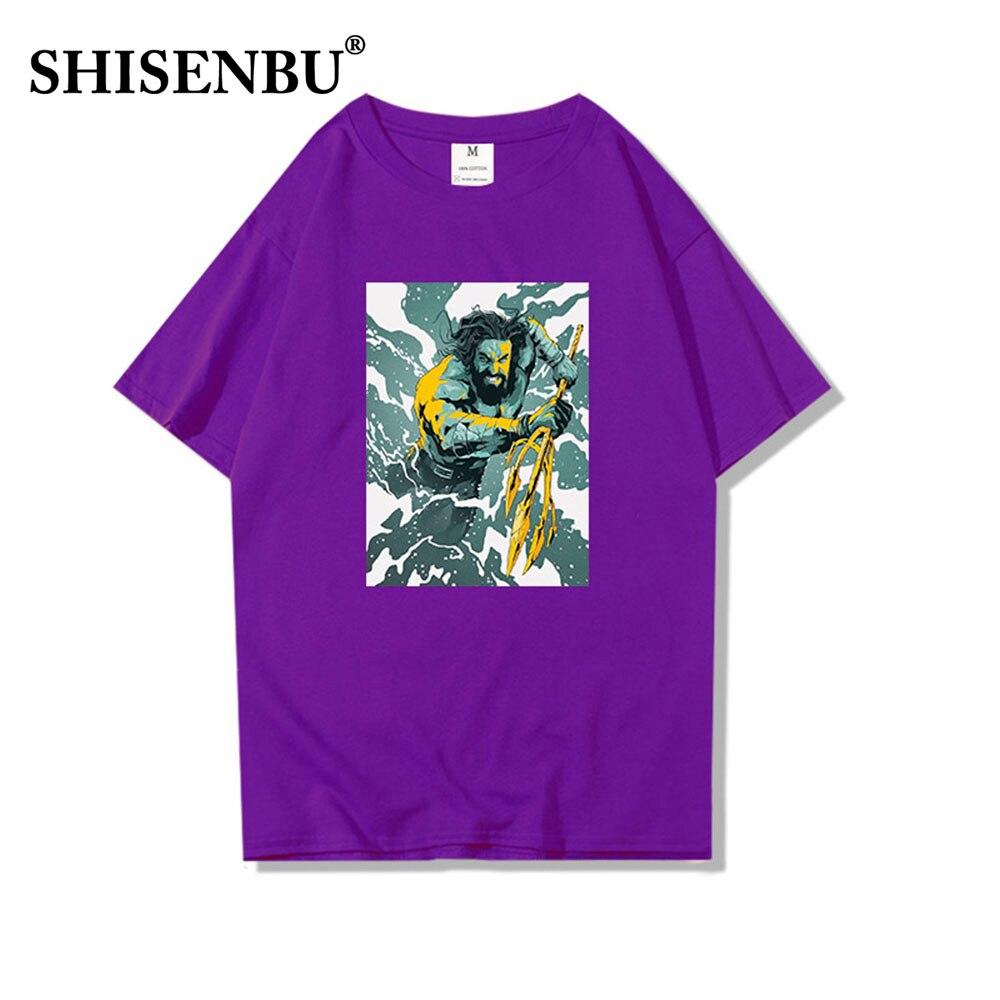 PLstar Cosmos Drop shipping 2018 summer Fashion T-shirt movies Aquaman 3d Print Men\`s Women\`s Casual 100% cotton Cool t shirt (4)
